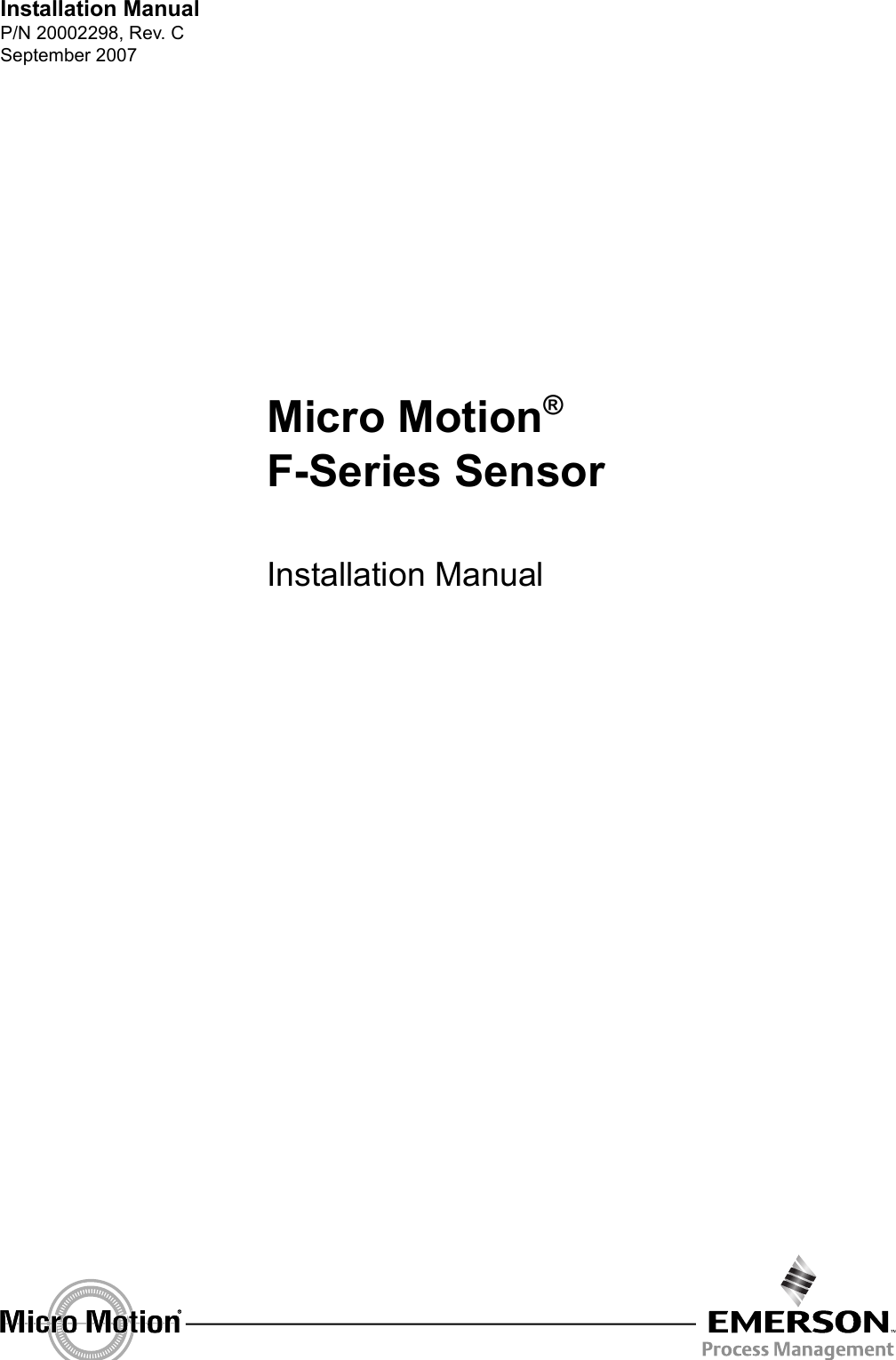EmersonMicroMotionFSeriesSensorUsersManual165517.1340227031 User Guide Page 1 emerson coriolis meter manual