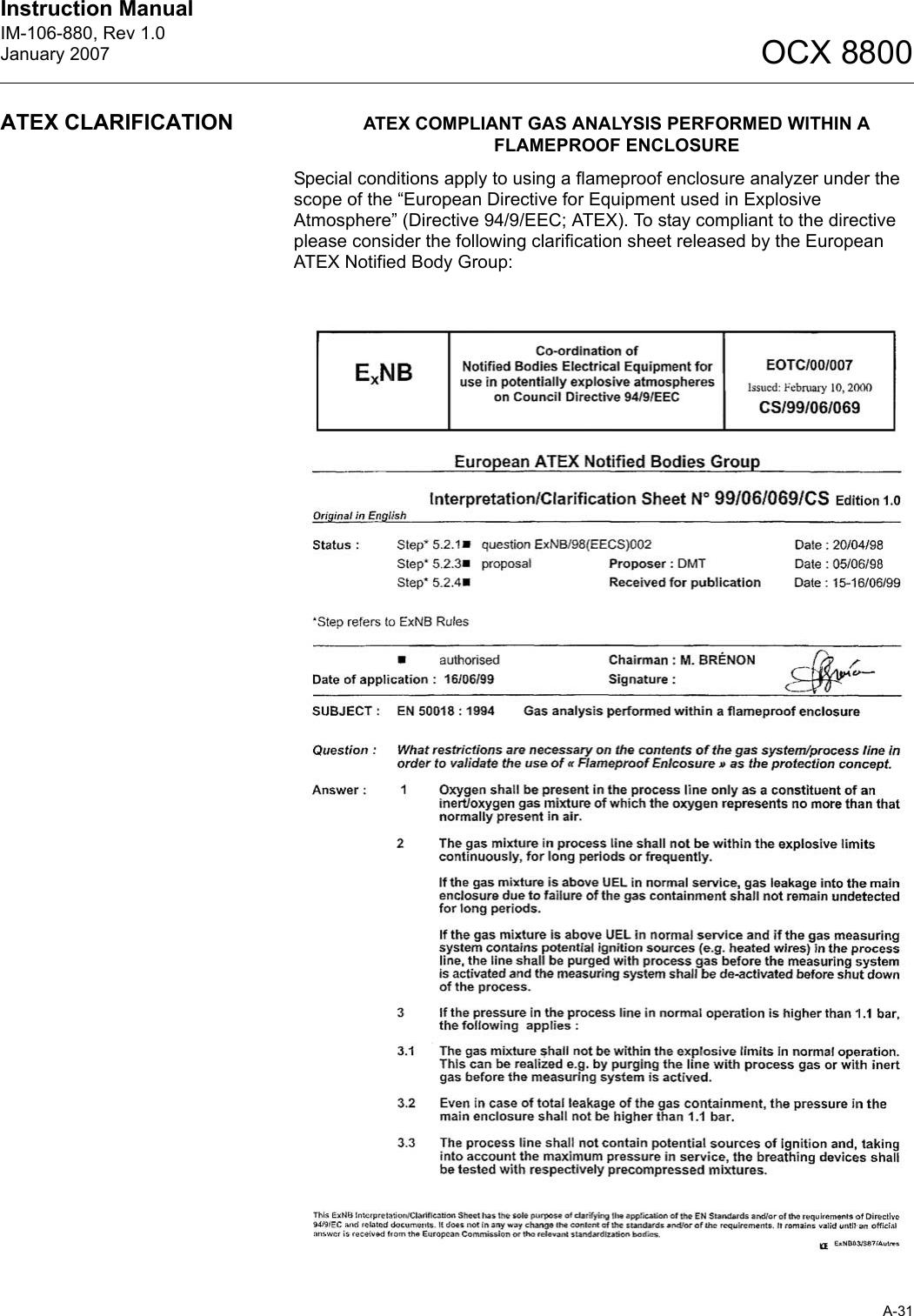 Emerson Rosemount Ocx 8800 Users Manual IM 106 880 LOI INT