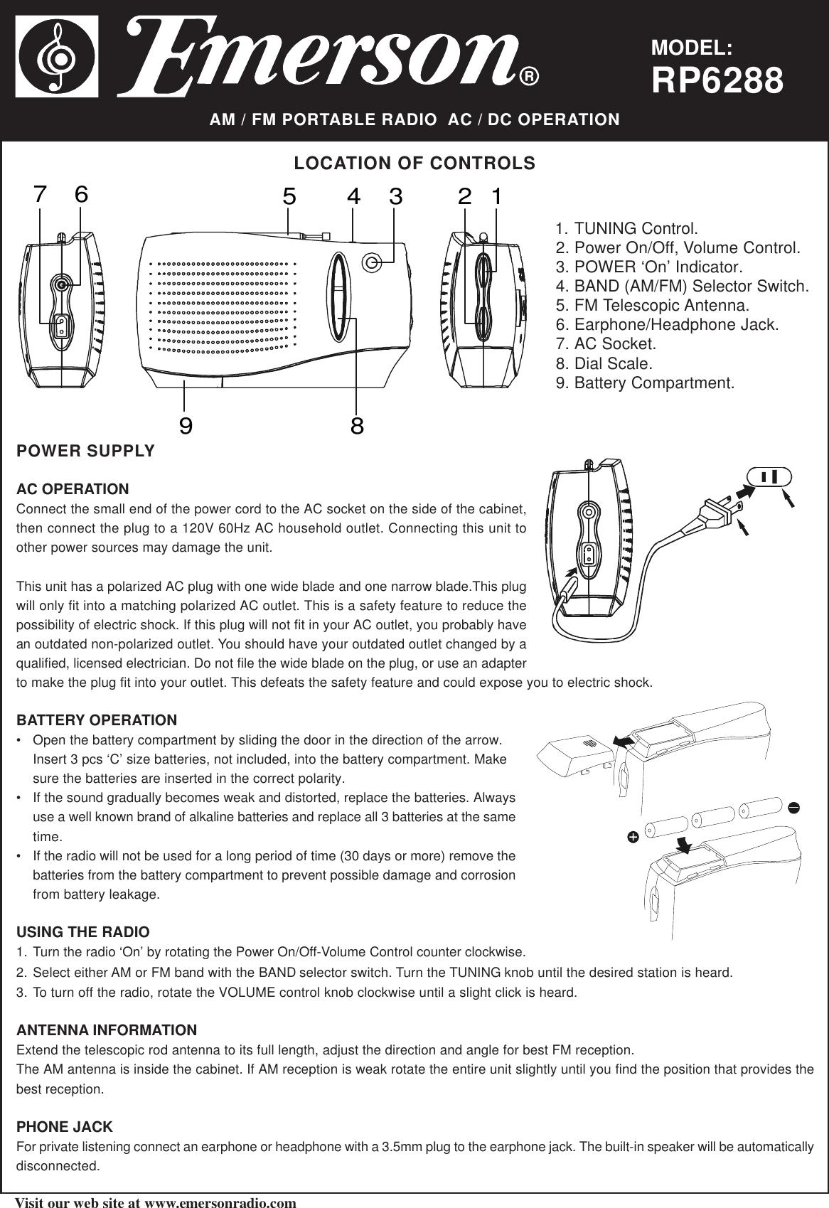 EmersonRp6288PartsList165375.278606936 User Guide Page 1 emerson rp6288 parts list