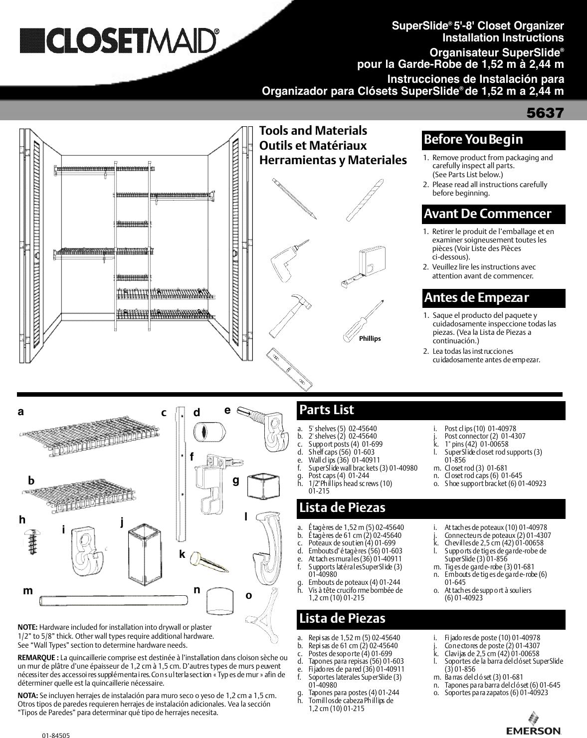 Emerson Super 5637 Instruction Booklet