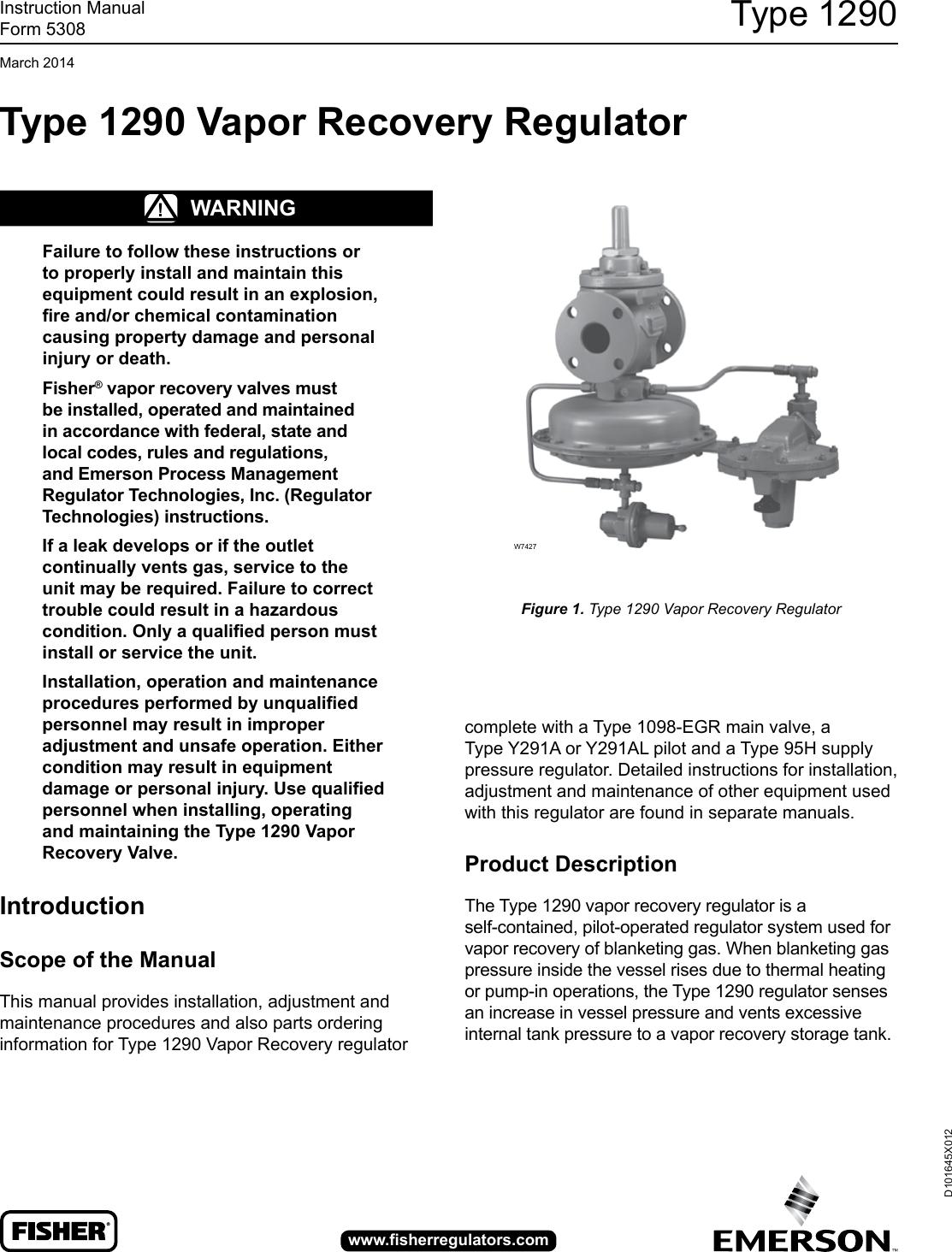 137603 Regulator Manual Guide