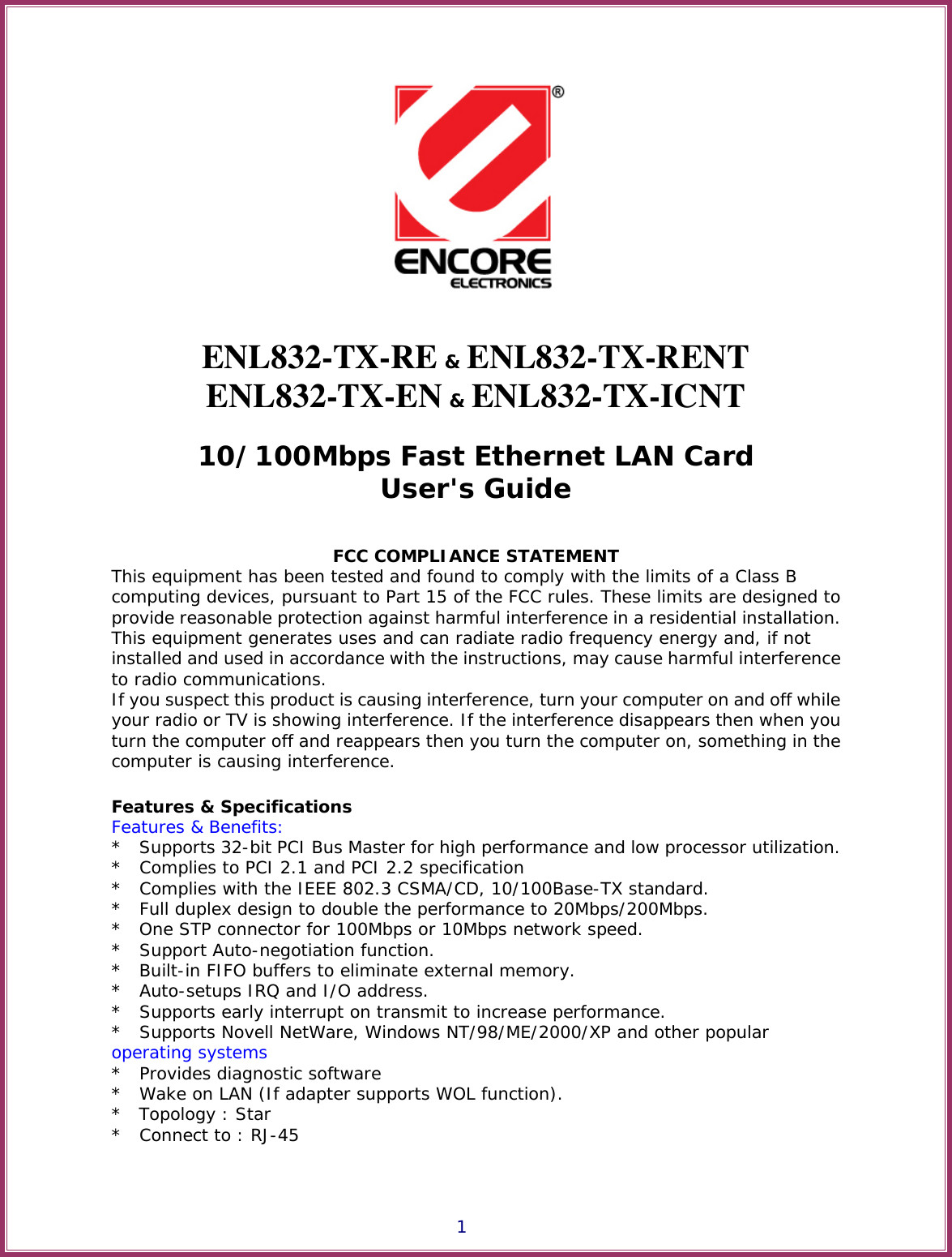 ENCORE ENL832-TX-ICNT WINDOWS 10 DRIVER