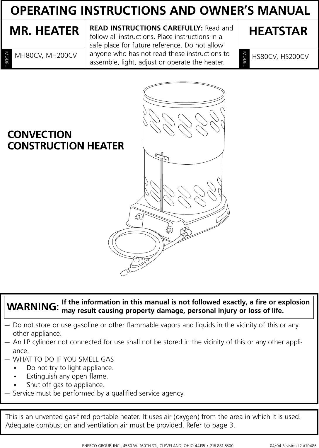 Enerco Hs200cv Users Manual Mh80 200cv Tormax Wiring Diagram