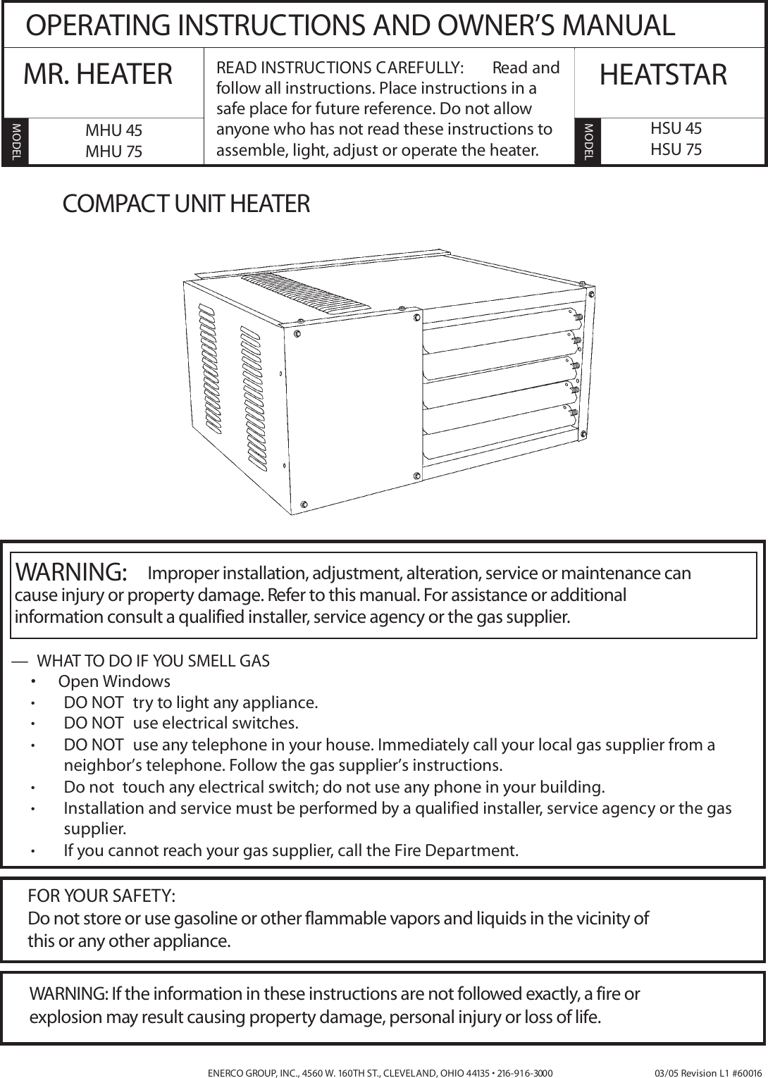 Hsu 75 Mr Heater Wiring Diagram Free Download How To Read Diagrams For Appliances Enerco Mhu 45 Users Manual Cuh