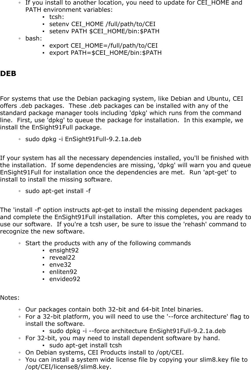 EnSight 9 2 Installation Guide Install