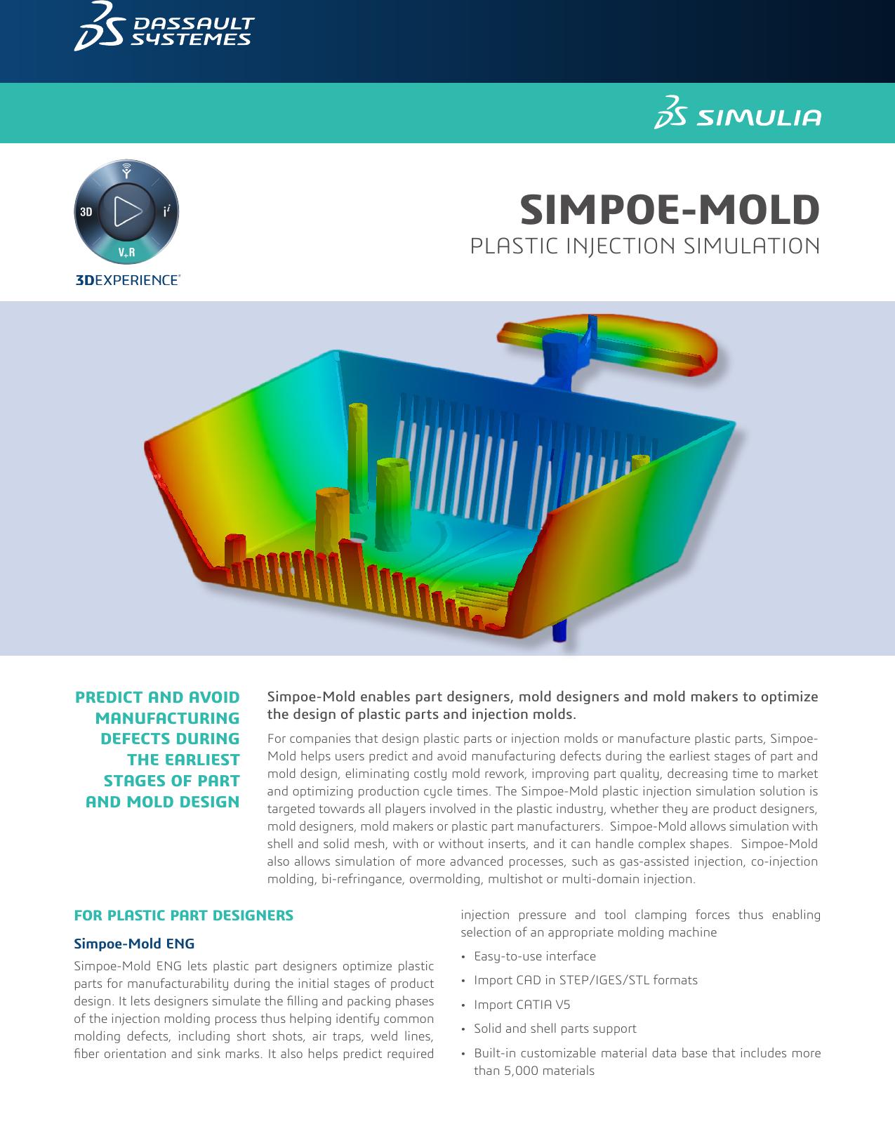 SIMULIA Simpoe Mold brochure