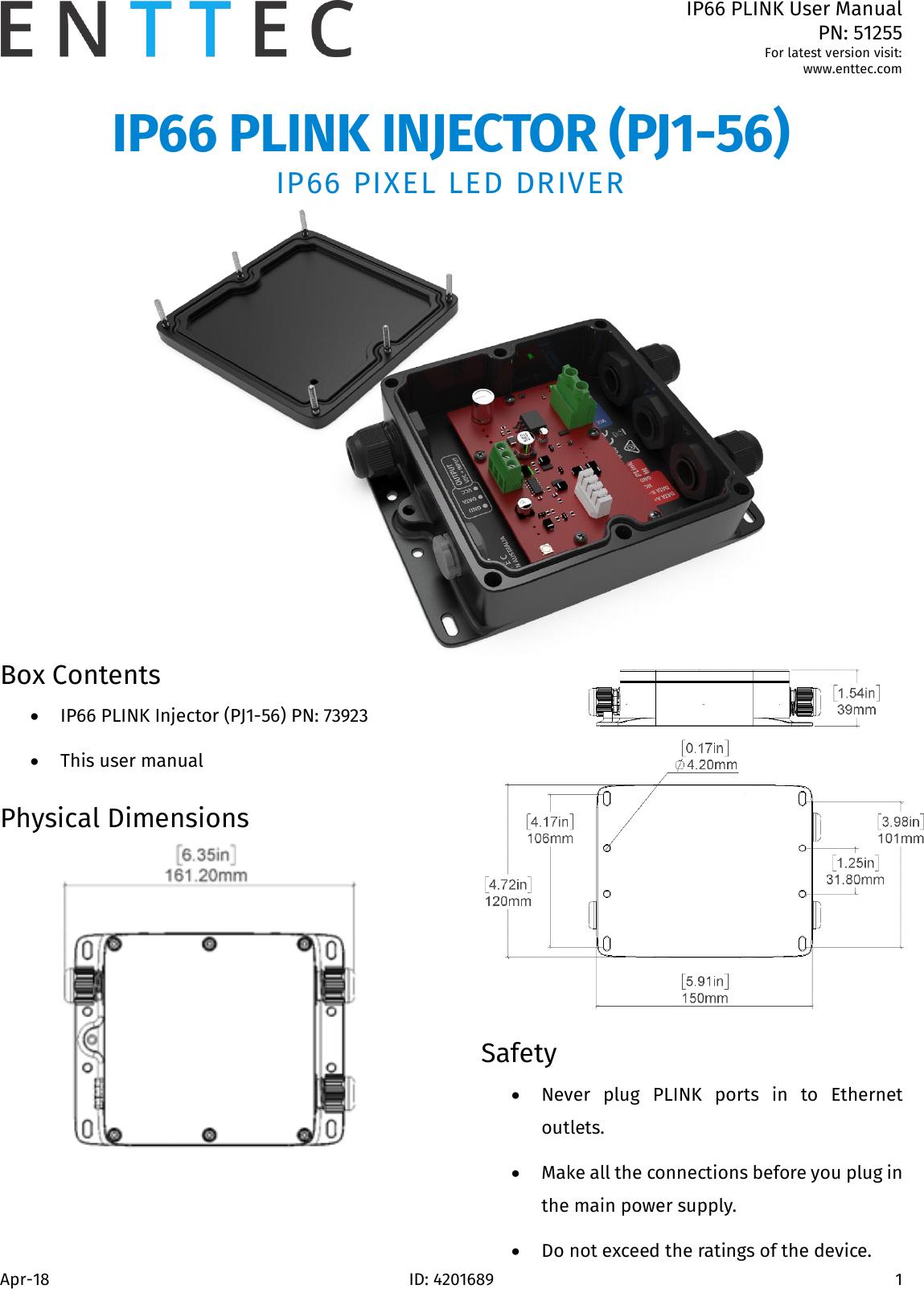 IP66 PLINK User Manual