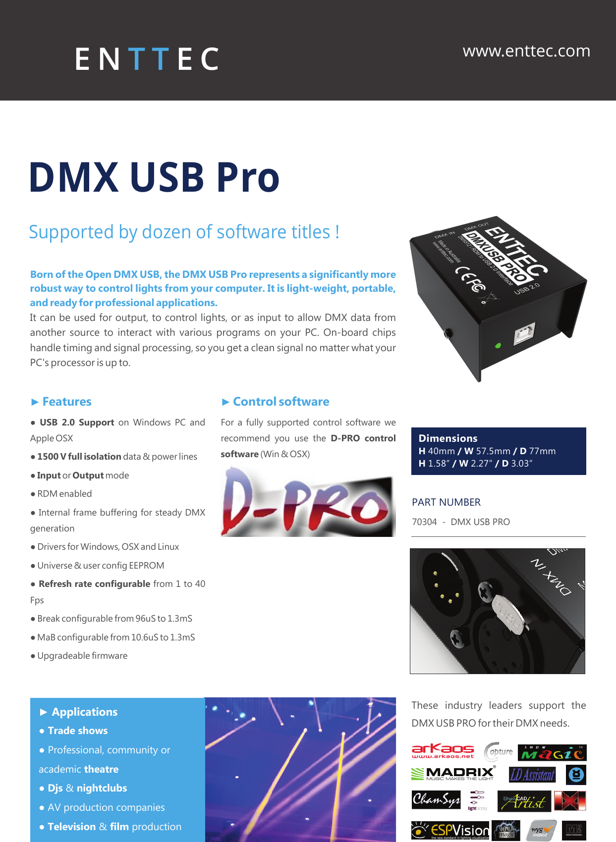 Enttec Dmx Usb Pro New Brochure User Manual