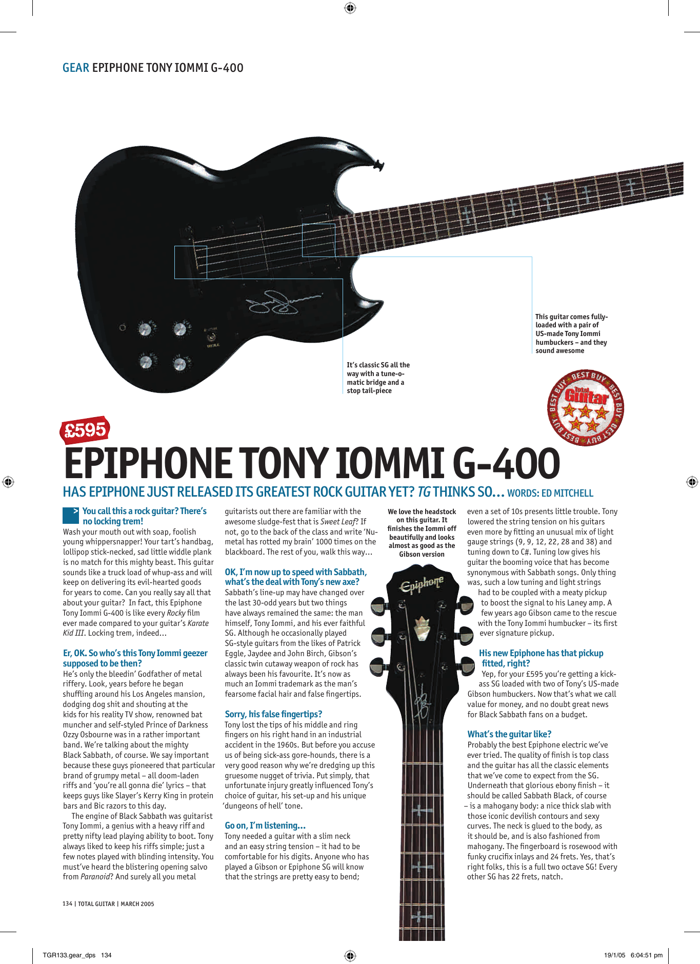 Epiphone Tony Iommi G 400 Users Manual Tgr133gear Dps Special Sg G310 Wiring Diagram Page 1 Of 2