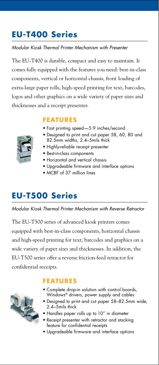 Epson Eu T400 Users Manual