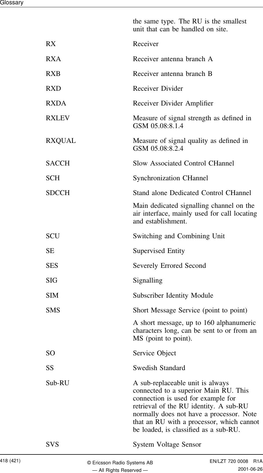 Ericsson Radio Systems PKRC1311004-1 PCS Broadband GSM Base