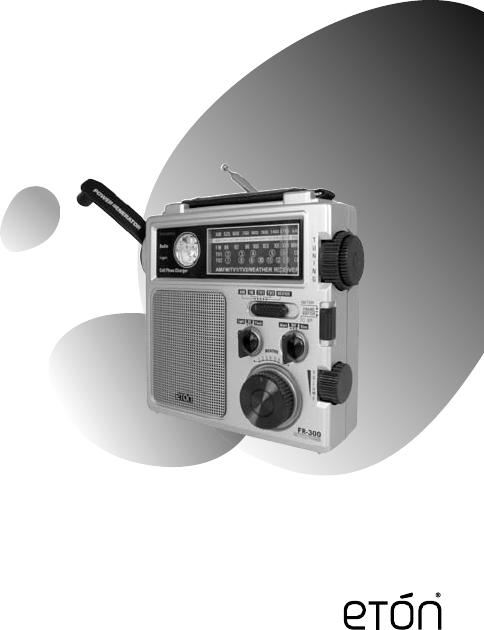 Eton Corporation Radio Fr300 Users Manual