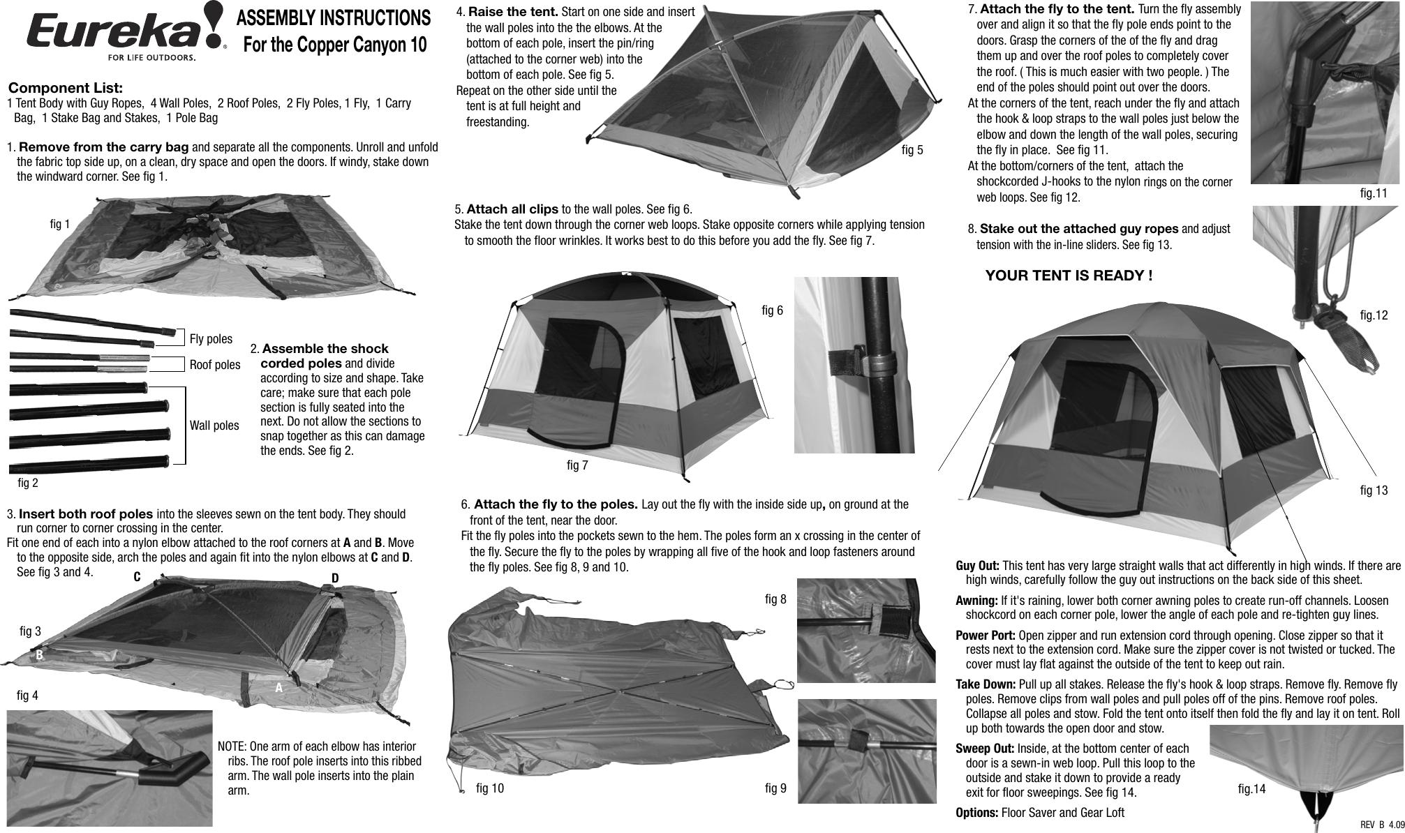 sc 1 st  UserManual.wiki & Eureka Tents Copper Canyon 10 Users Manual Cop Cnyon