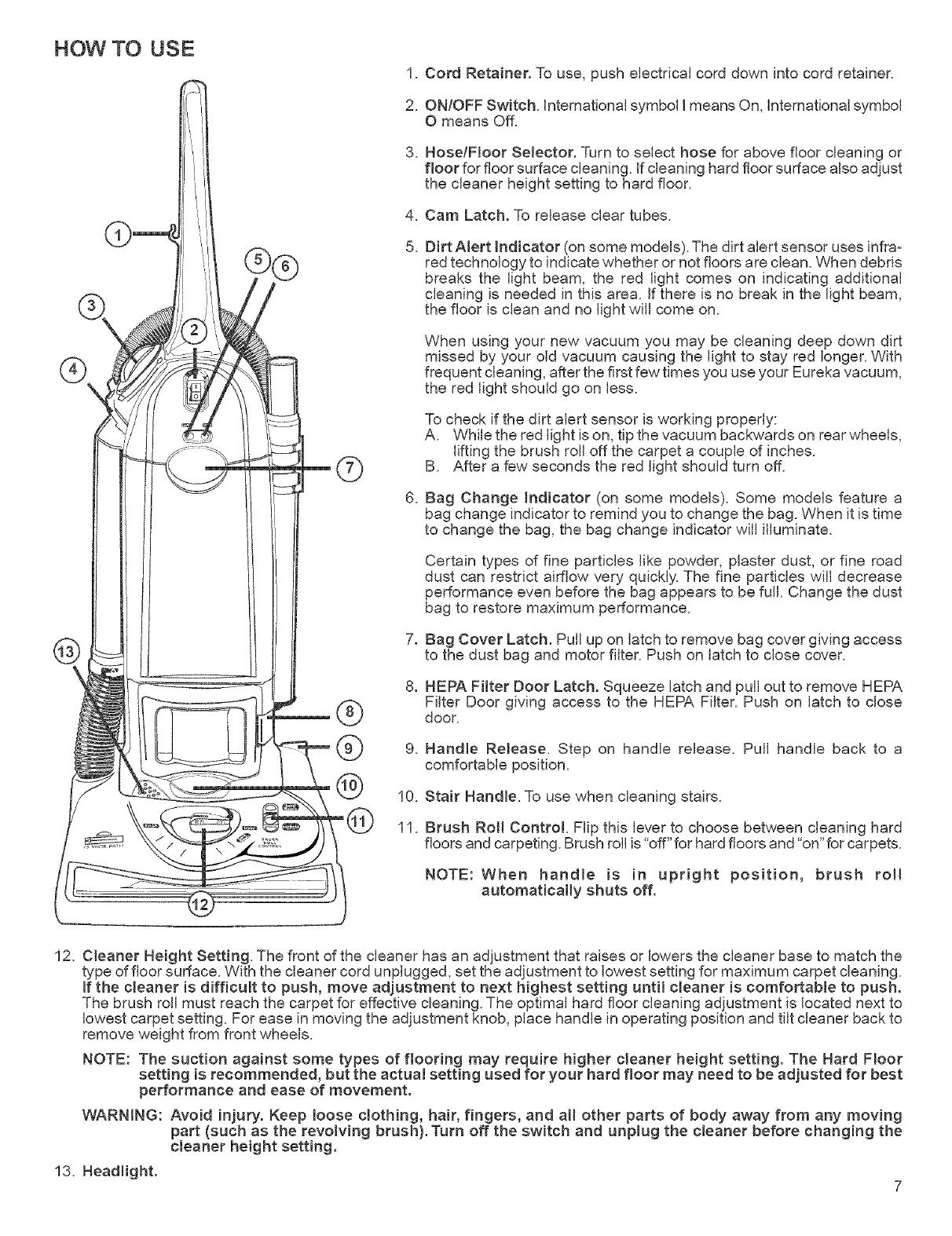 3 m Eureka RR HEPA Aspirateur Sac
