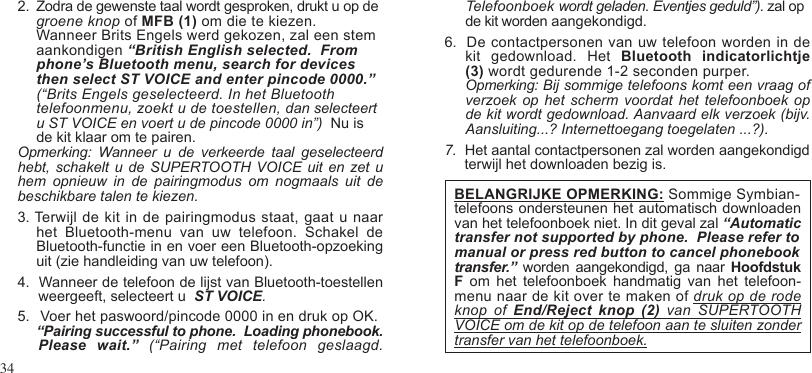 Euro Communication Equipements Btsvbc3 Supertooth Voice User