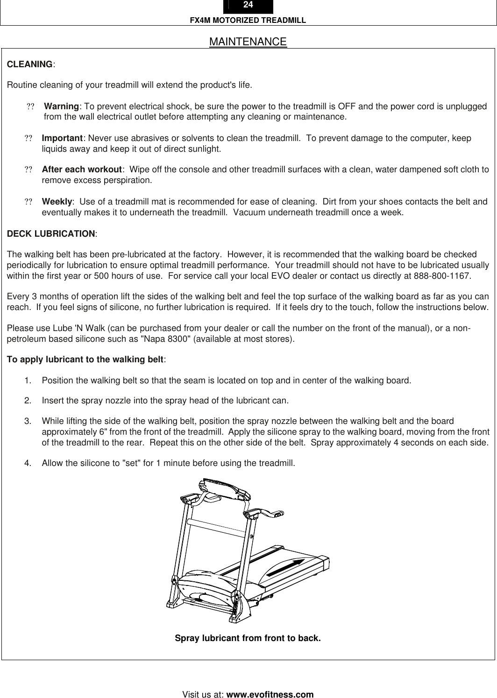 Evo Fitness Fx4M Users Manual EVO_FX4M_manual_2003Dec