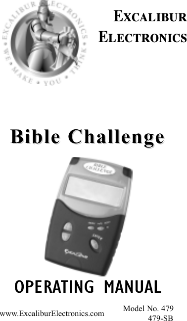 excalibur electronic 479 users manual bible challenge111203 rh usermanual wiki Excalibur Electronics Helicopter Excalibur Electronics Inc Miami FL