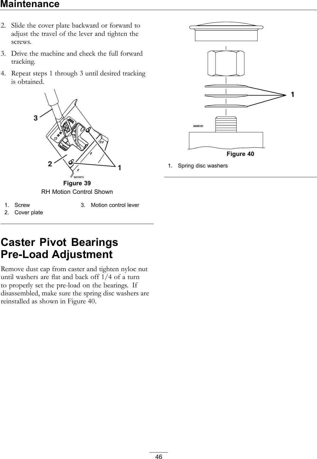 Exmark Tracking Adjustment