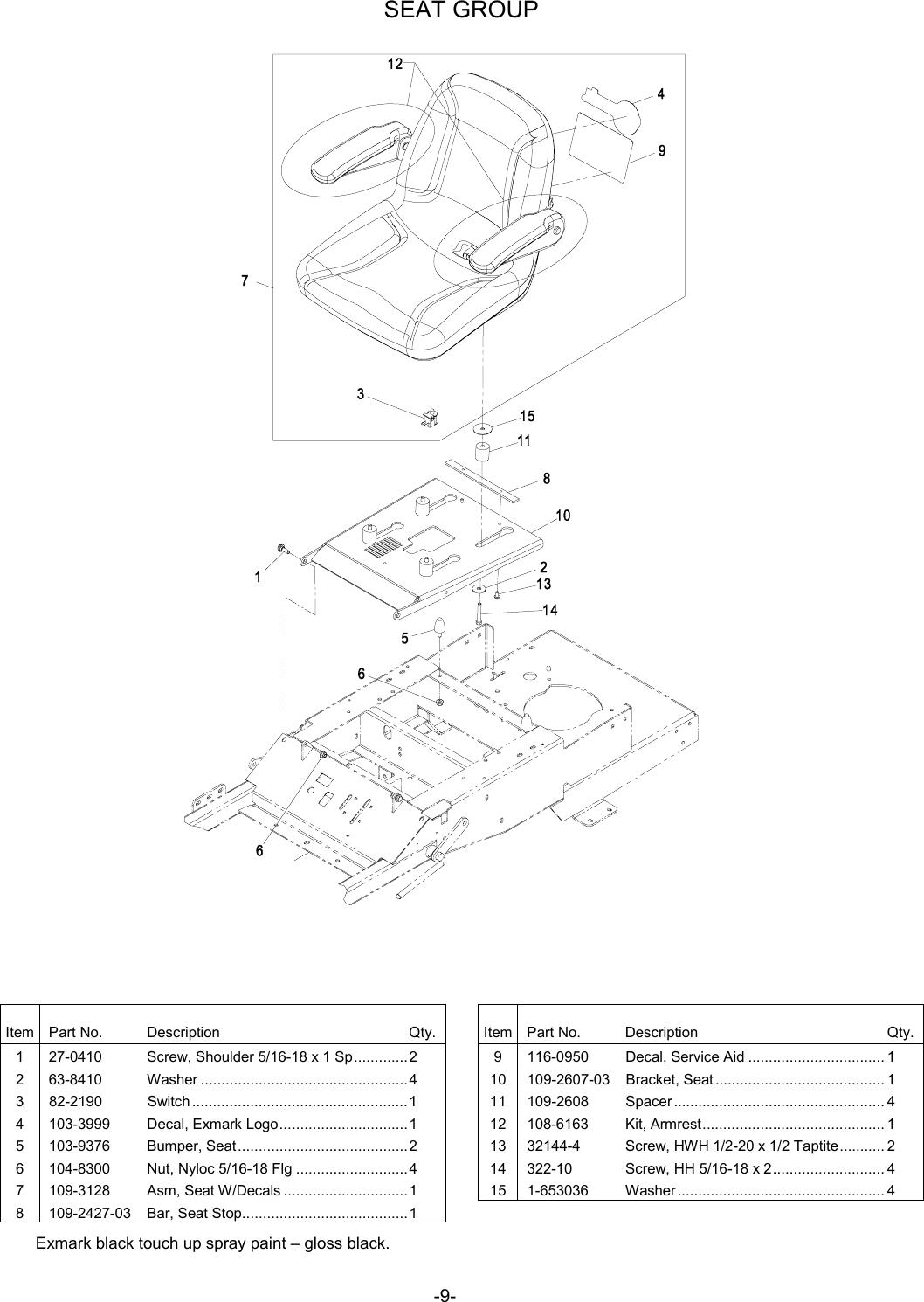 Exmark Phazer 4500 461 Users Manual