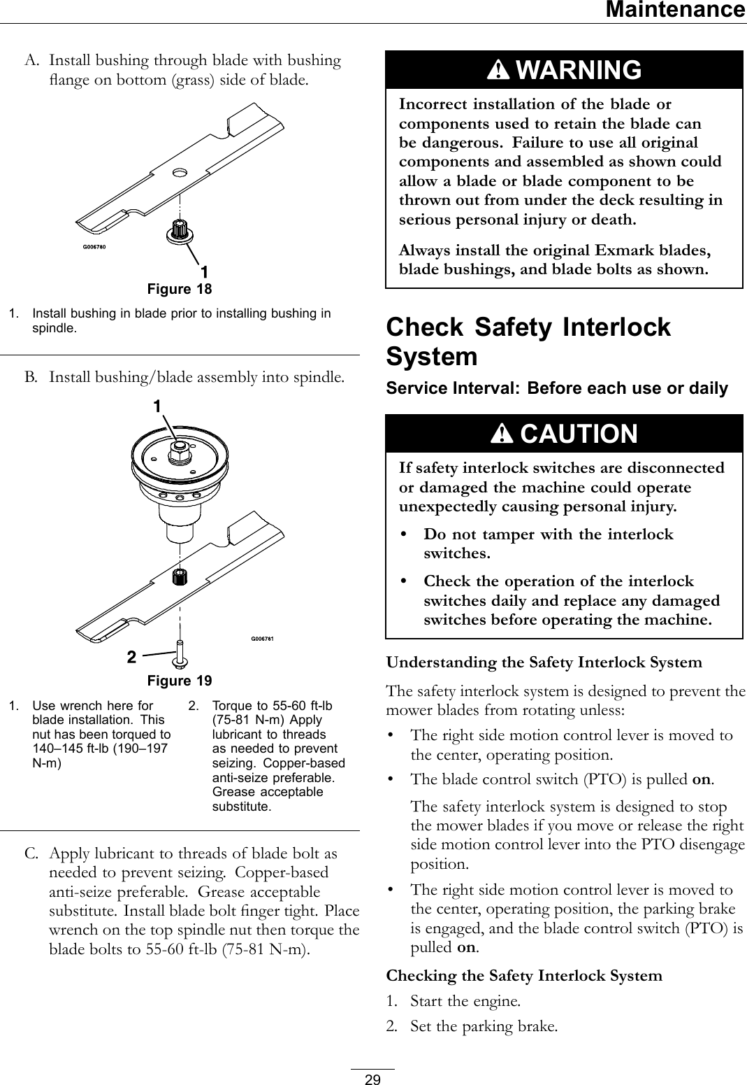 Exmark Vantage 000 And Higher Users Manual