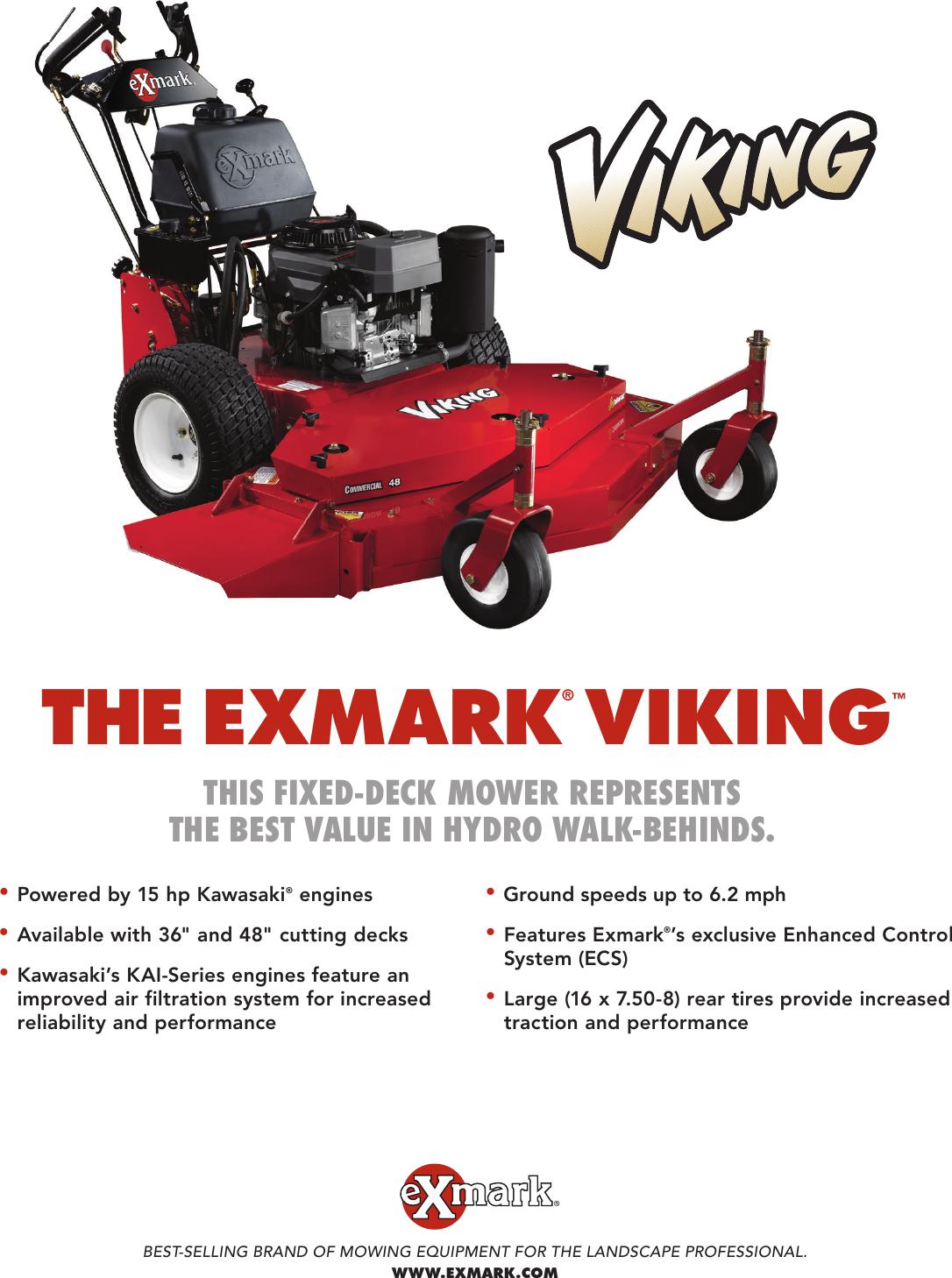 Exmark Viking Vh15Ka362 Ecs 15 Users Manual