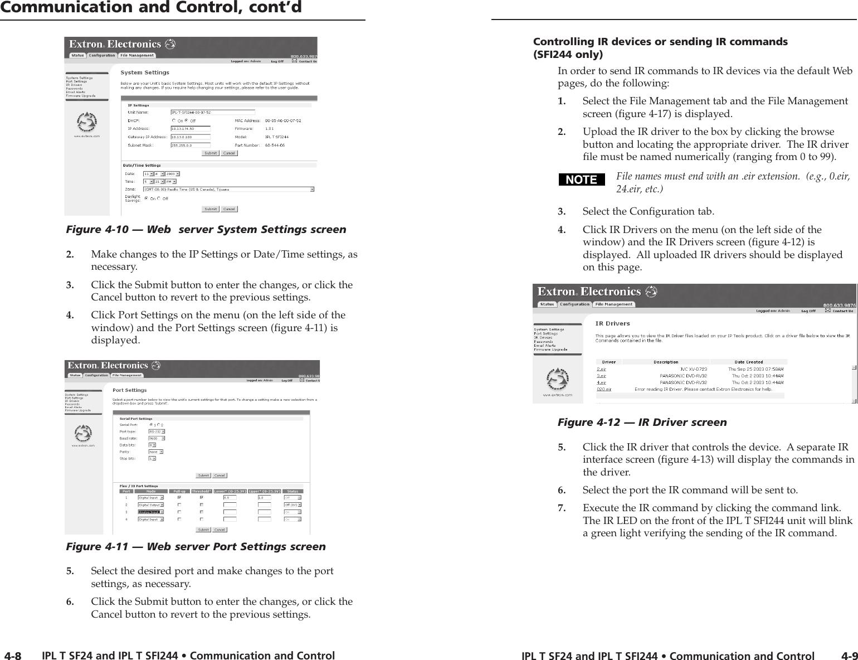 EXTRON IPL T SFI244 IP Link Control Processor 2 RS-232 4Flex I//O ports 4 IR port
