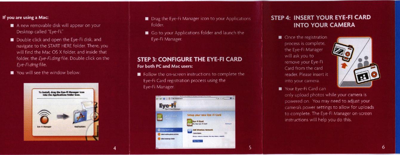 Eye Fi 1 80211bg Transceiver In Sd Form Factor User Manual Users