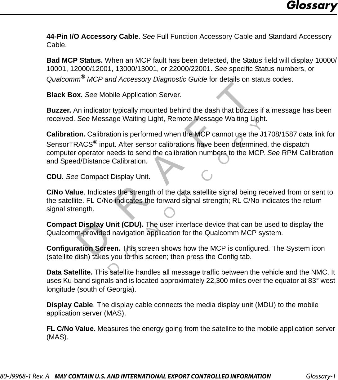 J1708 Fault Codes