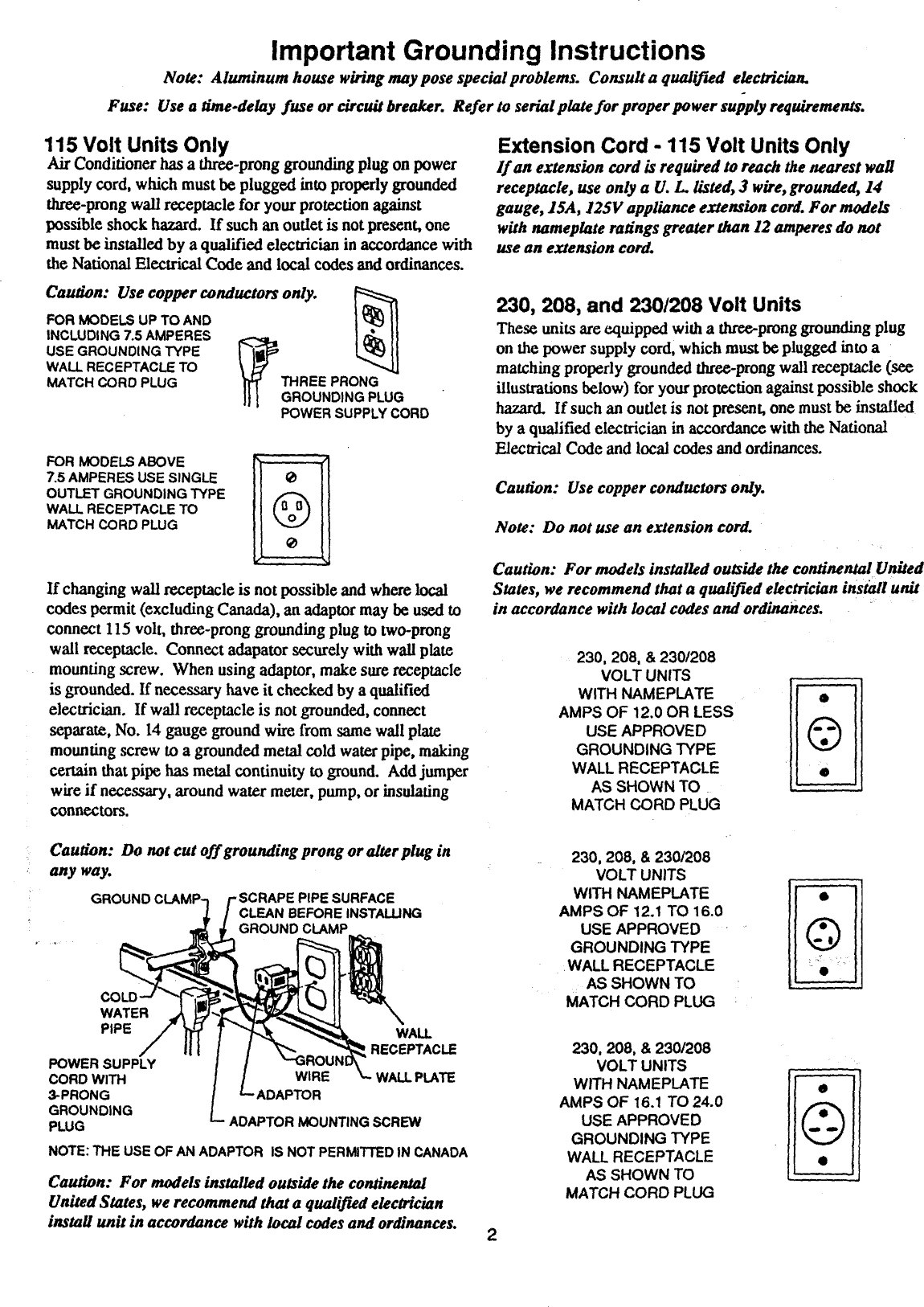 Fedders Air Conditioner Room 42 Manual L0811213 Handler Wiring Diagram Page 2 Of 4