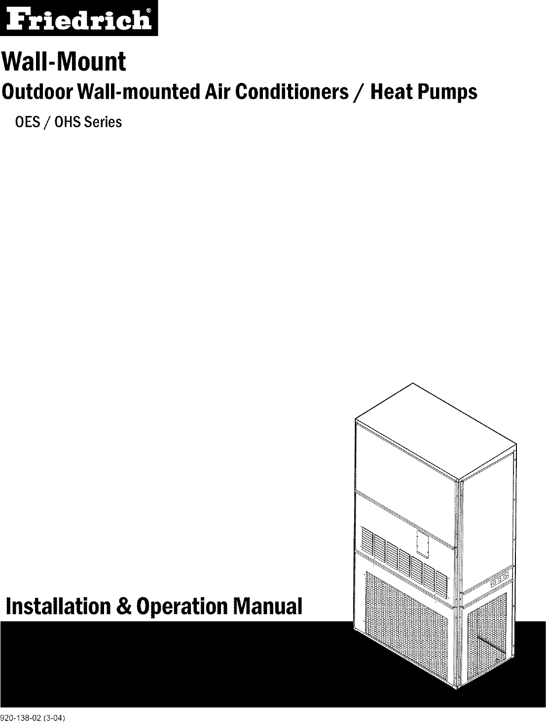 Friedrich Package Unitsboth Units Combined Manual L0405263 Air Conditioners Wiring Diagram