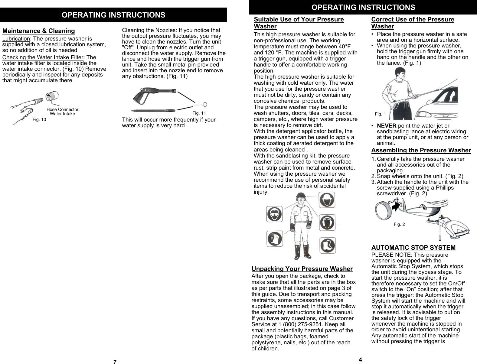 Fantom Vacuum Vpw40H Users Manual 1