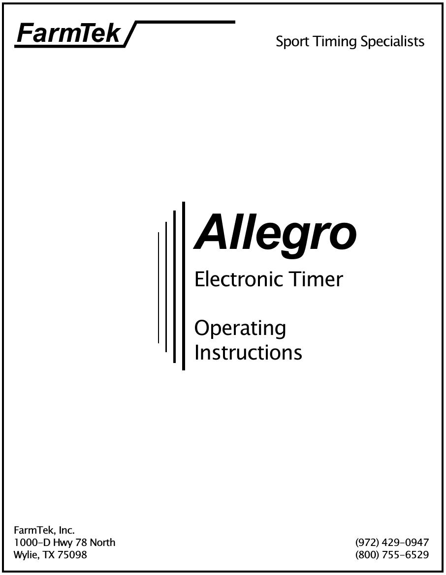 farmtek mi046 wireless photo receiver user manual allegro manual rh usermanual wiki allegro user guide allegro abv441 user manual