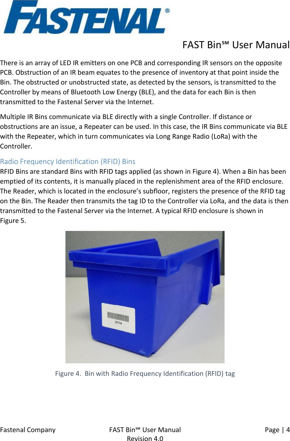 Fastenal 9705082V1-0 FastBin Reader User Manual FAST Bin