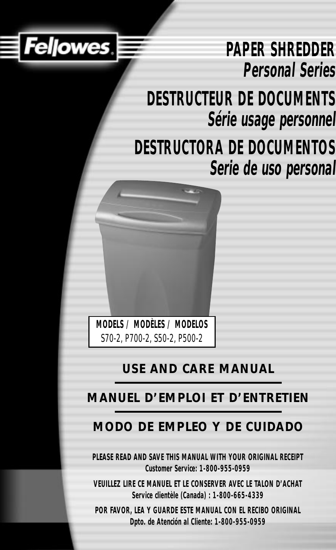 fellowes p500 2 users manual 2 p700 pdf rh usermanual wiki P500 Hospital Bed White Pill P500