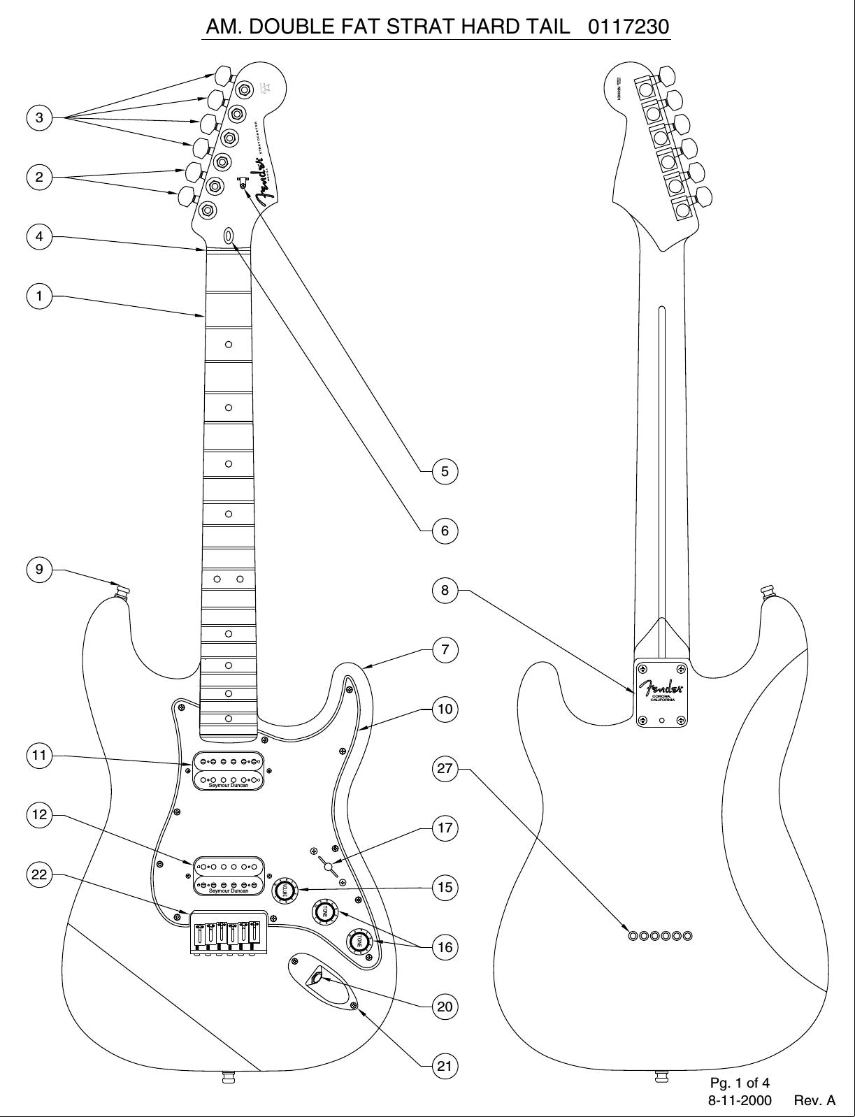 Fender 011 7230A SISD on