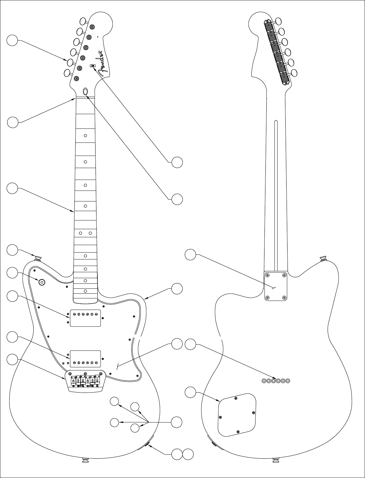 fender 013 0700b sisd Humbucker Pickup Wiring Diagram