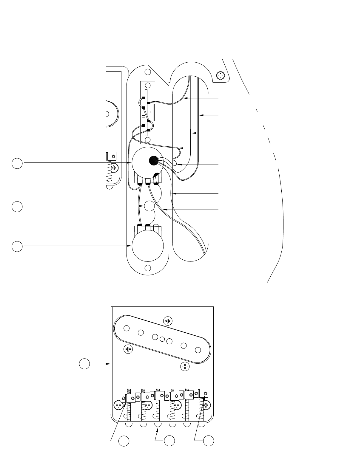 Fender 013 8602a Sisd James Burton Telecaster Wiring Diagram Control Assembly Standard 0138602 White Wire From