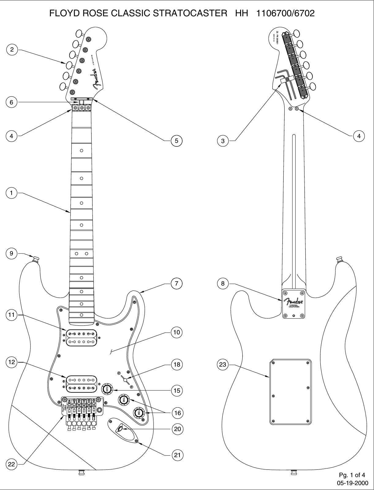 Fender 110 6700 02b Sisd Floyd Rose Diagram