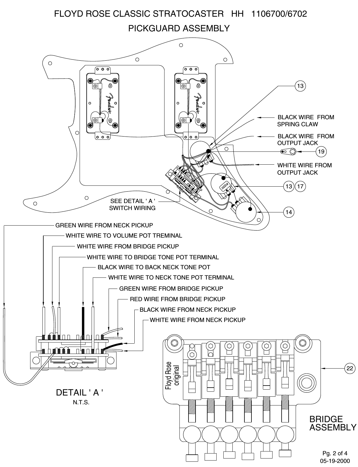 Fender 110 6700 02b Sisd Stratocaster Hh Wiring Diagram Page 2 Of 4