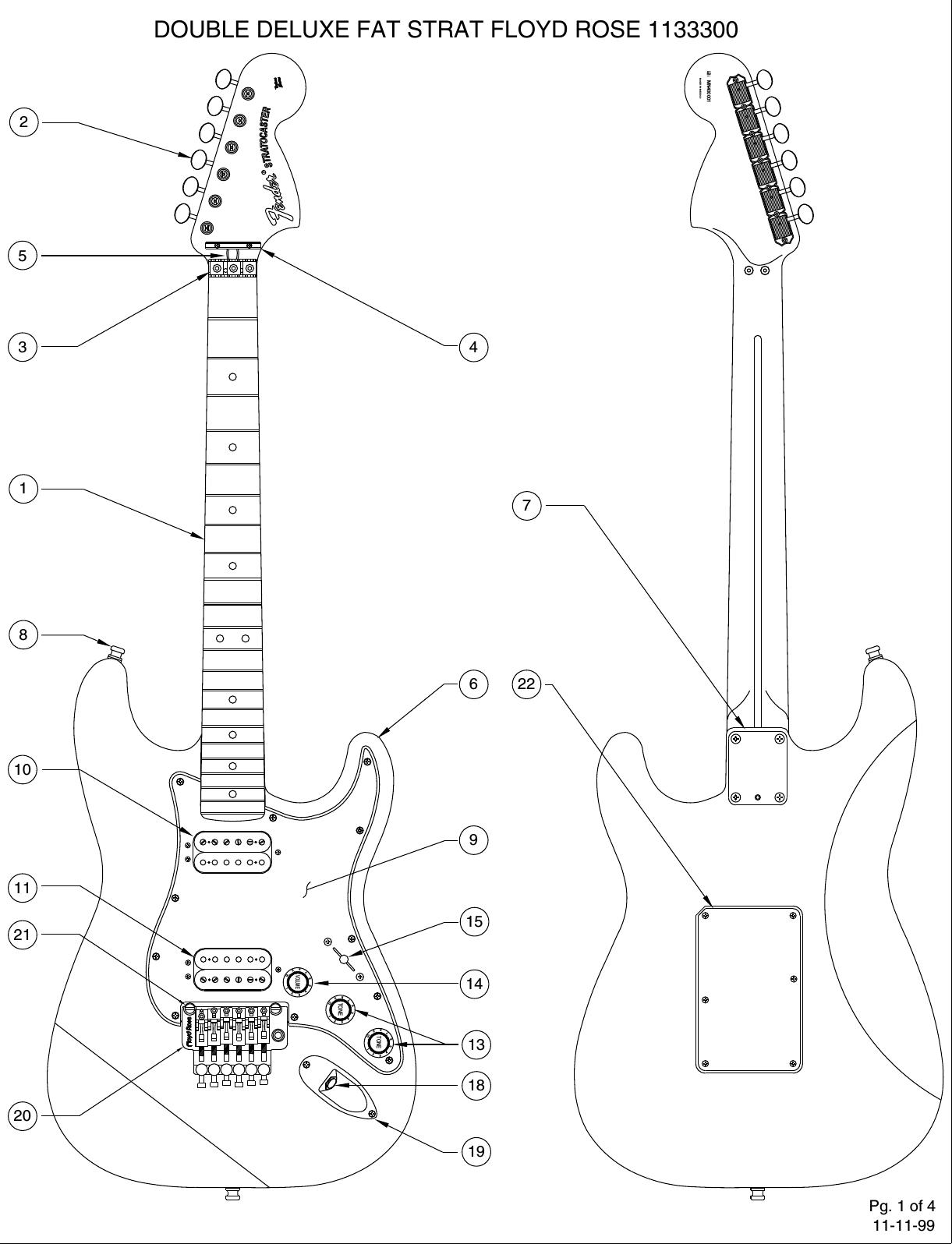 Fender 113 3300b Sisd Floyd Rose Diagram