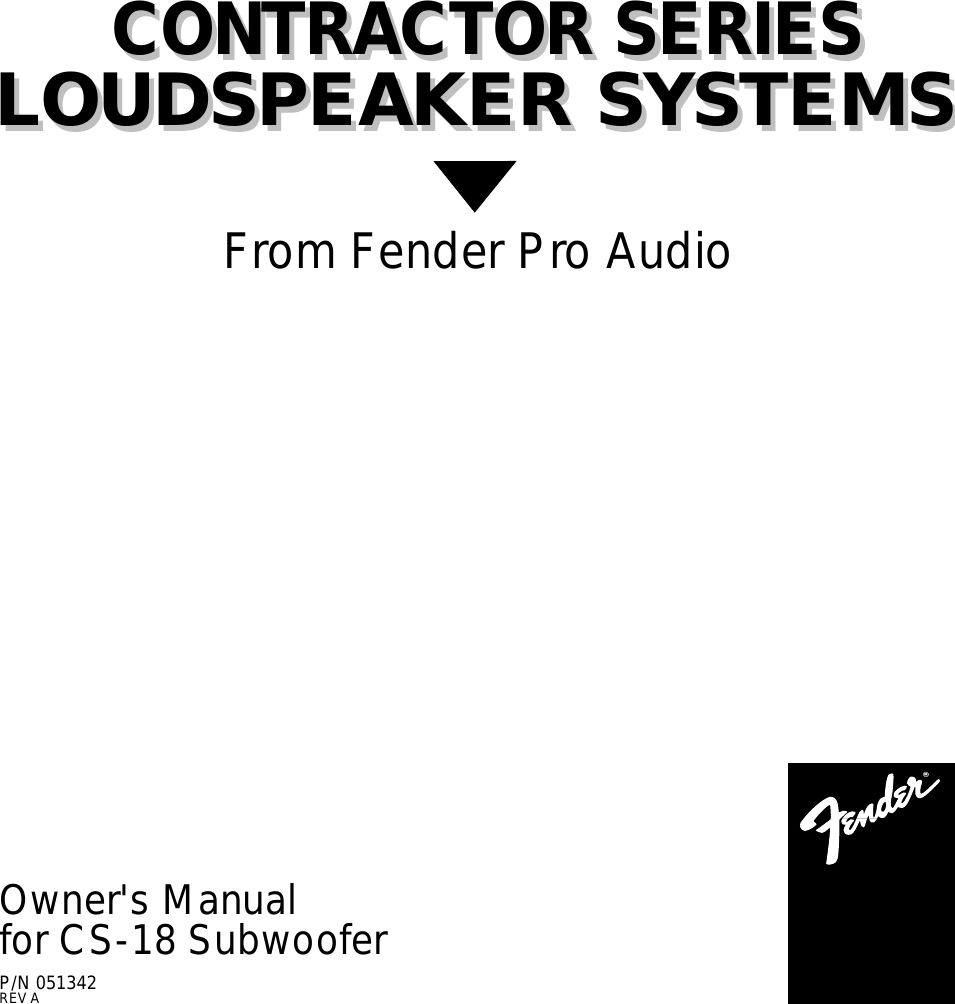 fender cs 18 users manual rh usermanual wiki Fender Stereo Fender Passport 150 Pro Portable PA System