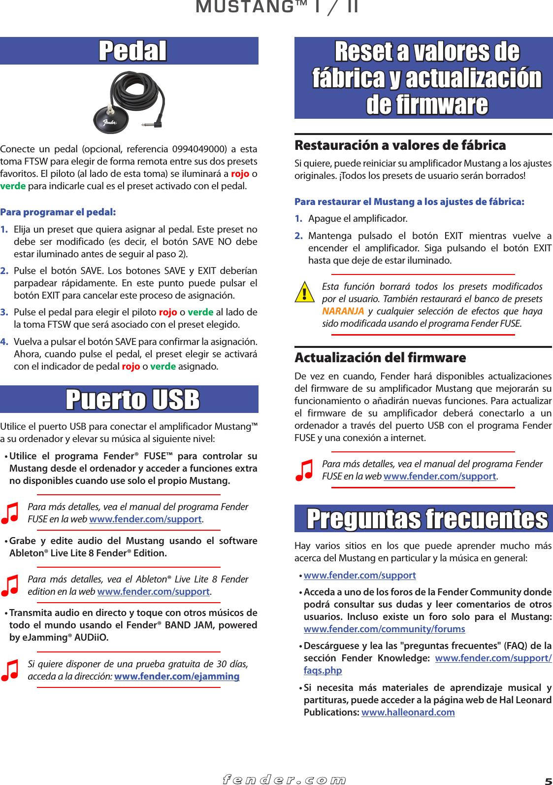 Fender Mustang I_II_advanced_manual_Spanish I II Advanced