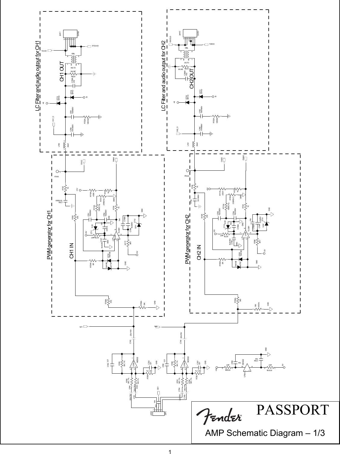 Fender Passport 300 Pro Svc Man Schematics And Layouts Pwm Generator Schematic