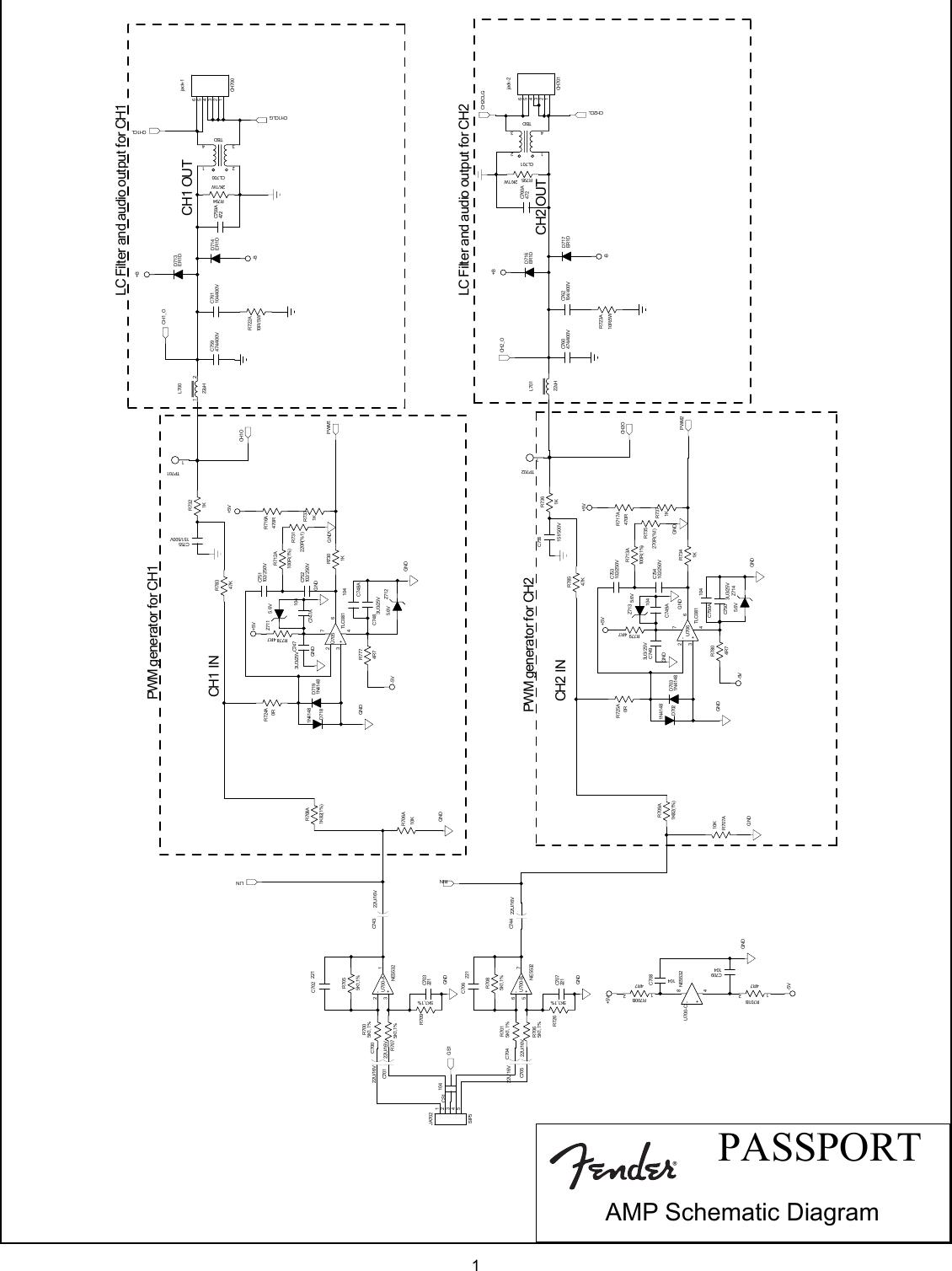 Fender Passport 500 Pro Svc Man Schematics And Layouts Pb30 Wiring Diagram
