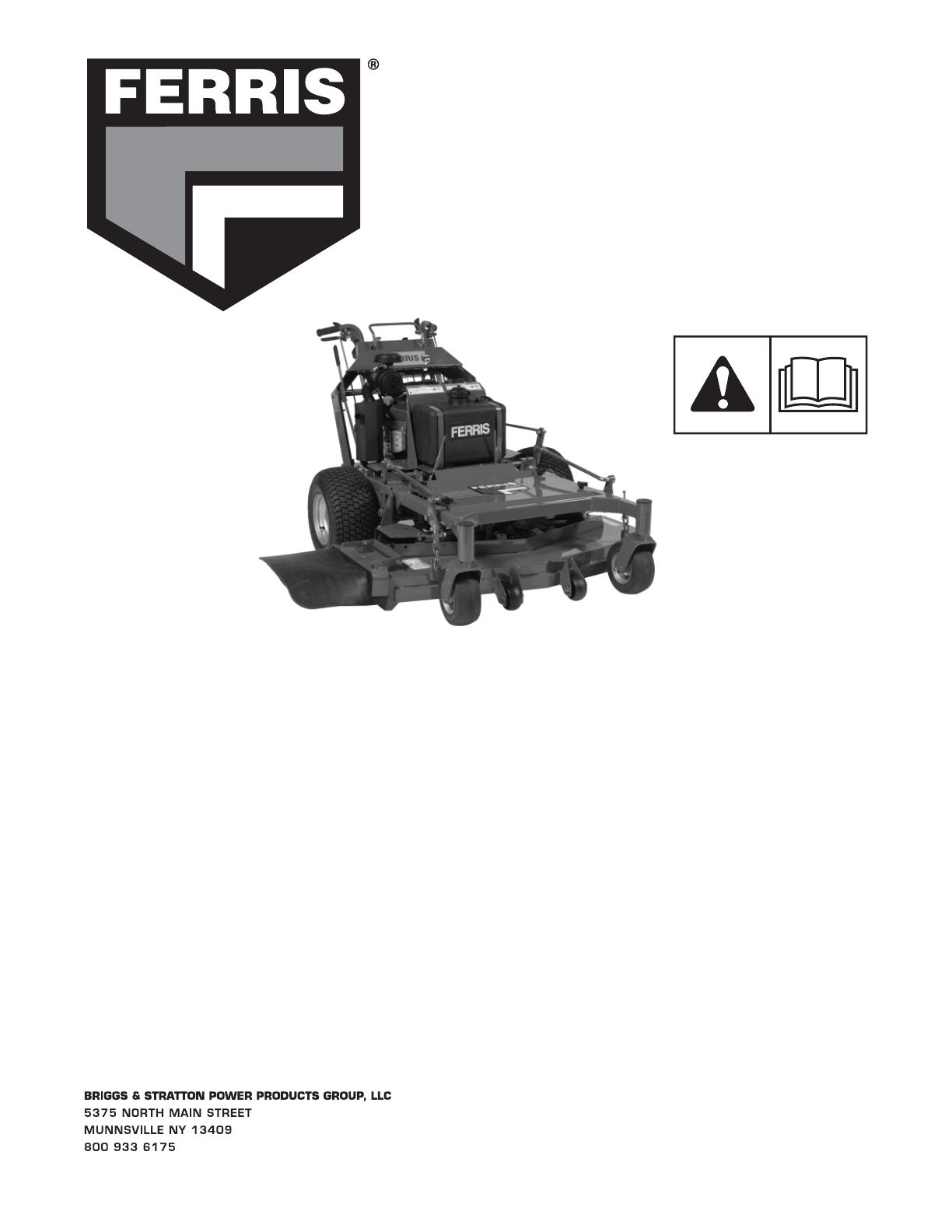 Ferris Industries Lawn Mower 5900637 Users Manual 5100647 T English Cvr Seat Switch Wiring Diagram