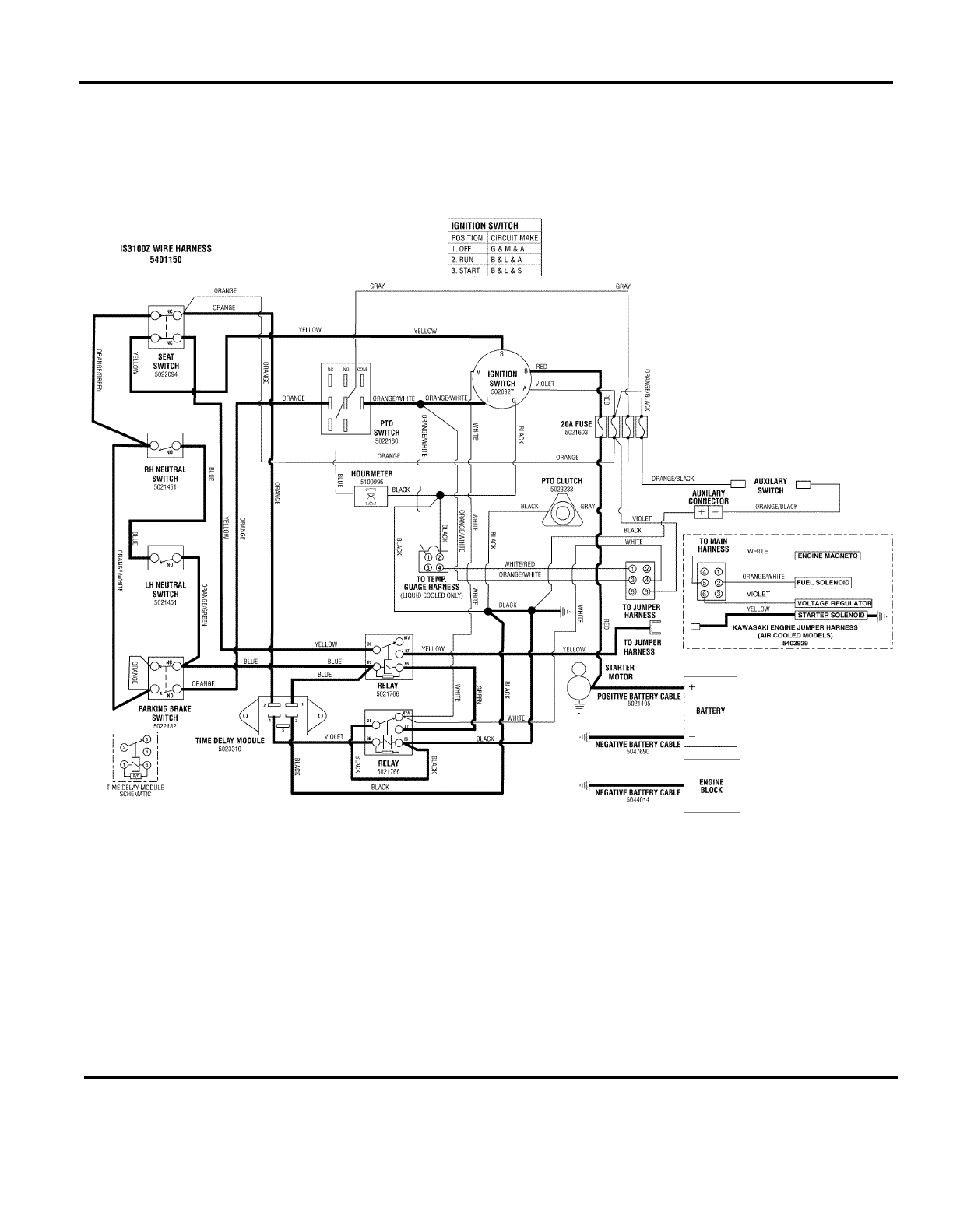 Ferris Electric Clutch Wiring Diagram Electrical Diagrams Wire Industries Lawn Mower Is3100z Series Users Manual Partsmanual Snapper