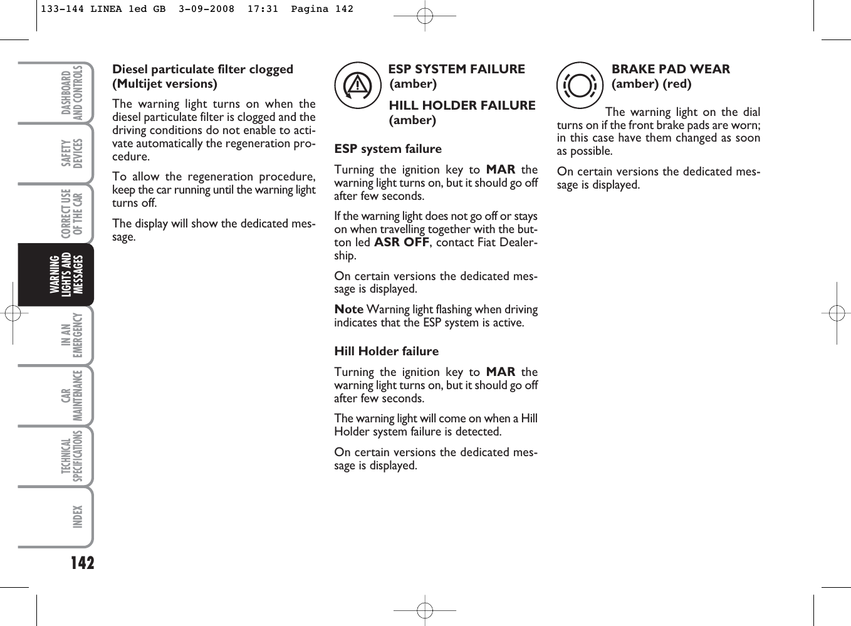 Fiat Linea Handbook 001 031 1ed GB