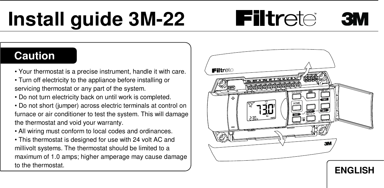 Filtrete 3m 22 Installation Manual Manualslib Makes It Easy To Find Manuals Online
