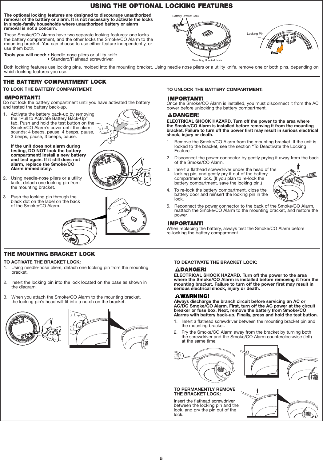 First Alert Carbon Monoxide Alarm Ul217 Users Manual Sc9120b Smoke Wiring Diagram Page 5 Of 11