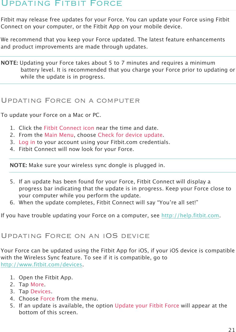 Fitbit FB402 Wireless Activity Tracker User Manual Neutrino Manual